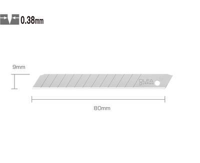 OLFA AB-10 Standart Dar Maket Bıçağı Yedeği (10 lu Tüp)