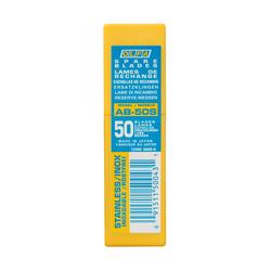 OLFA AB-50S Dar Standart Paslanmaz Maket Bıçağı Yedeği 50'li Tüp - Thumbnail