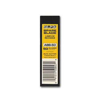 OLFA ABB-50 Dar Standart Black Seri Extra Keskin Maket Bıçağı Yedeği 50'li Tüp