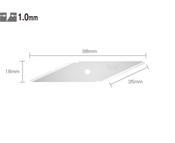OLFA CKB-1 Çift Yönlü 2'li Maket Bıçağı Yedeği - Thumbnail