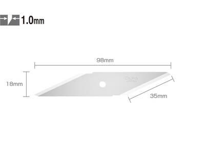 OLFA CKB-1 Çift Yönlü 2'li Maket Bıçağı Yedeği