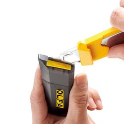 OLFA DL-1 Hazneli ve Bıçak Kırma Mekanizmalı Geniş Maket Bıçağı - Thumbnail