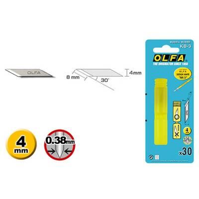 OLFA KB-3 Maket Bıçağı Yedeği (30'lu Tüp)