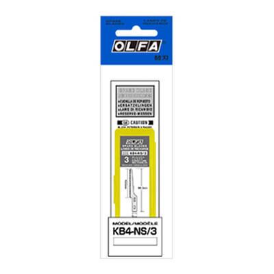 OLFA KB4-NS/3 Maket Bıçağı Yedeği (3'lü Tüp)