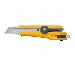 OLFA L-3 Çift Taraflı Kullanılabilen Vida Kilitli Geniş Maket Bıçağı - Thumbnail