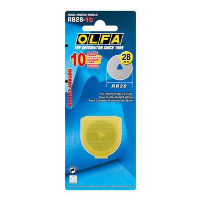 OLFA RB28-10 Maket Bıçağı Yedeği (10'lu Tüp)