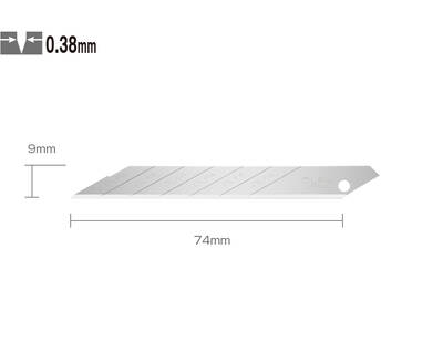 OLFA SAB-10 Dar 30 Derece Açılı Seri/SAC-1 Maket Bıçağı Yedeği 10'lu Tüp