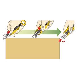OLFA SK-4 Otomatik Kapanabilen Emniyetli Maket Bıçağı - Thumbnail